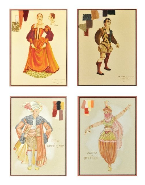 116: A Group of Four Framed Costume Illustrations,