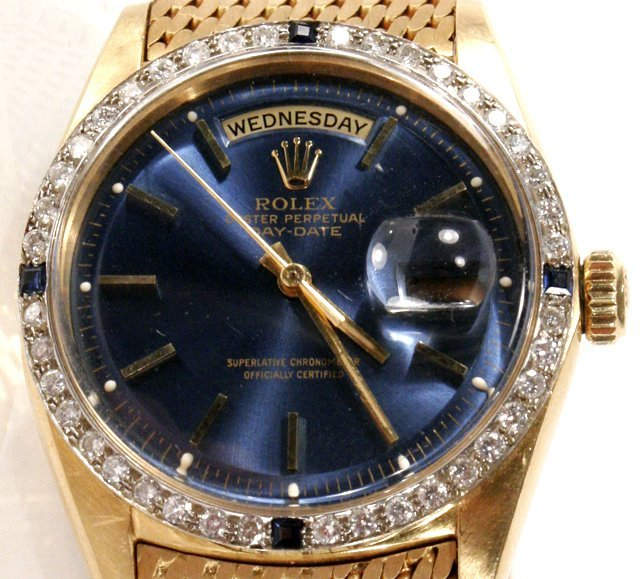 131: A Rolex President 18kt. Yellow Gold, Diamond and S - 3