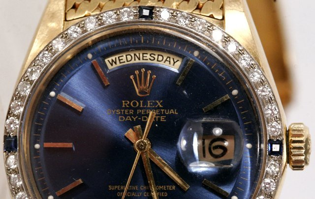 131: A Rolex President 18kt. Yellow Gold, Diamond and S - 6