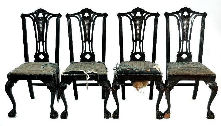 210: A Set of 6 Chippendale Style Mahogany Dining Chair - 2