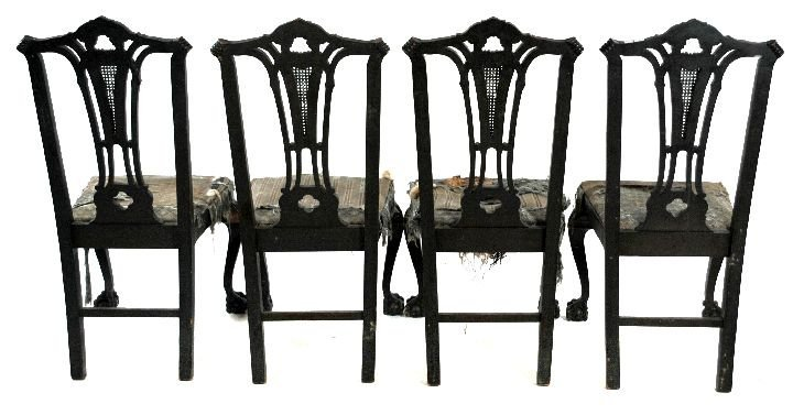 210: A Set of 6 Chippendale Style Mahogany Dining Chair - 5