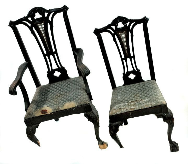 210: A Set of 6 Chippendale Style Mahogany Dining Chair - 6
