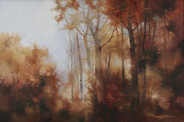 260: Josef Kugler (b.1913) Forest Scene, Oil on canvas,