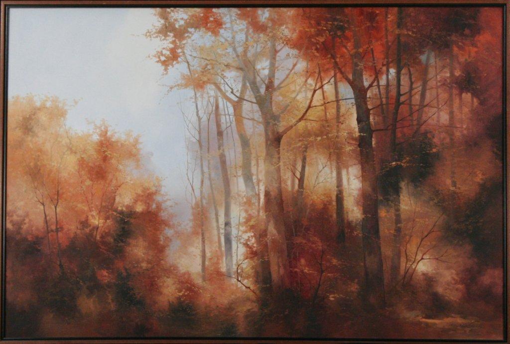 260: Josef Kugler (b.1913) Forest Scene, Oil on canvas, - 2
