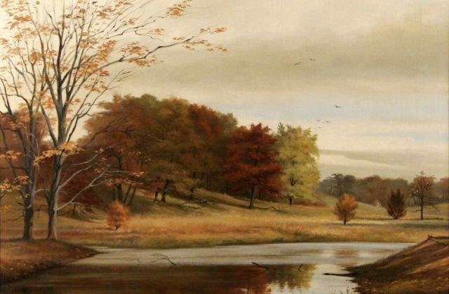 3: Janet Wensley Kimberling (b.1925) River Landscape,