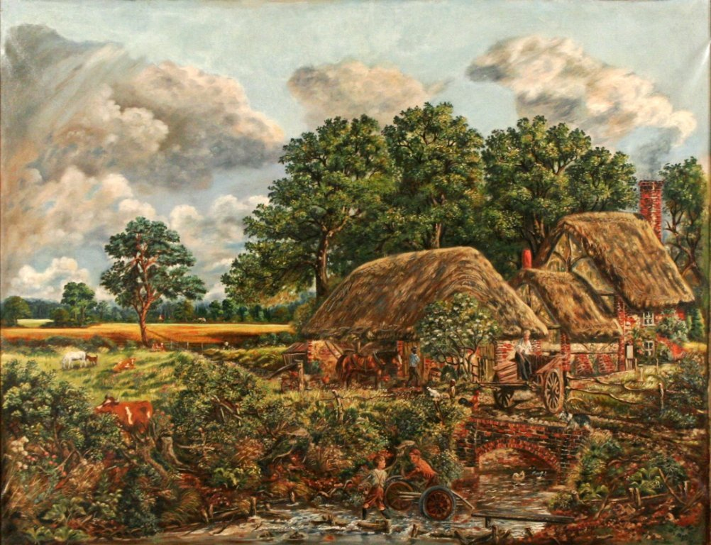 4: Artist Unknown (19th/20th Century) Landscape with Co