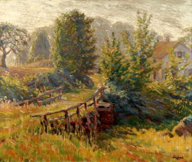 5: James Weiland (1872-1968) The Old Bridge, Oil on can