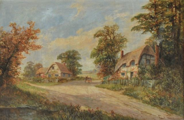7: Robert Towers (20th Century) Cottage Scene with Figu