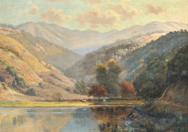 9: Ludmilla Pilat Welch (1867-1925) Landscape with Lake