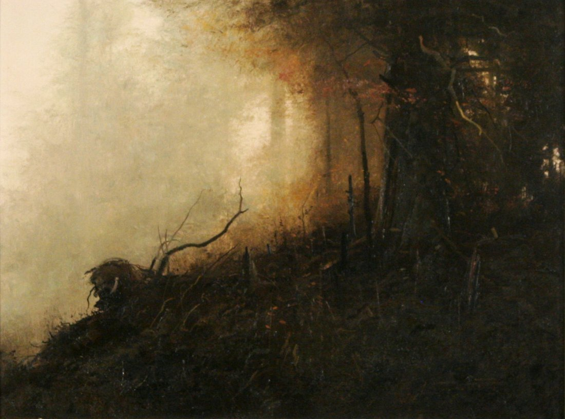 11: Michael Coleman (b.1946) Wolf Creek, Oil on board,