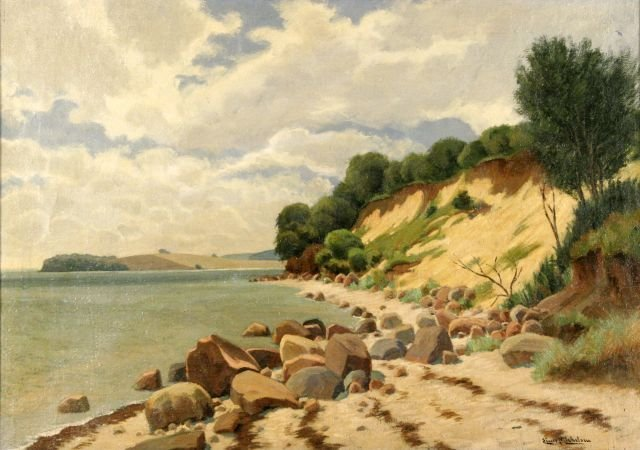 12: Einar Michelsen (b. ca. 1890) Coastal Scene, Oil
