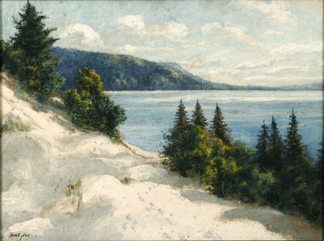 17: William Arnold Eyden, Sr. (1859-1919) Lake Scene wi