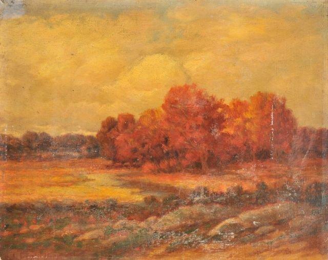 20: Henrietta Riddell Fish (1856-1925) Fall Landscape,