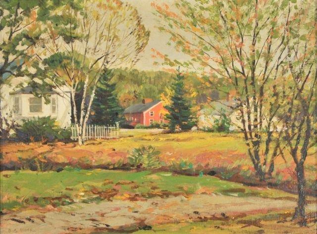 22: Samuel A. Moss (American, 20th Century) Fall Villag