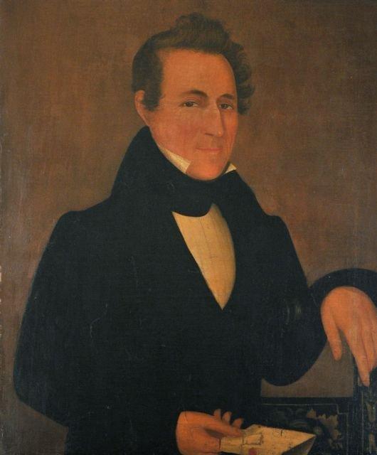 23: American School (18th/19th Century) Portrait of a M