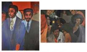 Ronald Carvell Meaux (Cleveland, 1945-2012) Two Gro