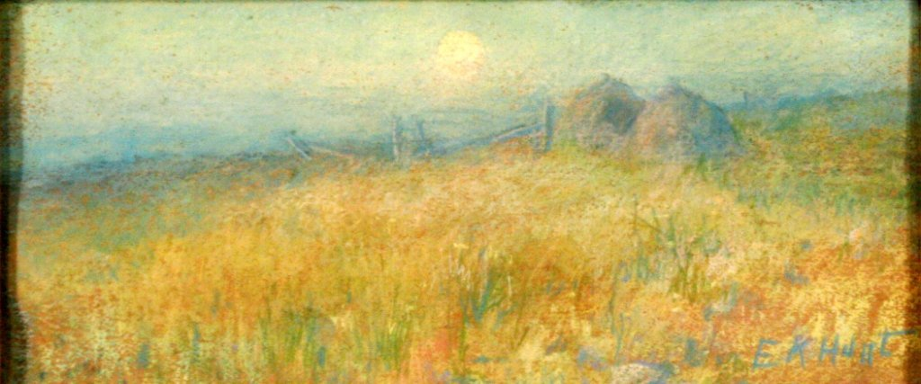 75: E. K. Hunt (20th Century) Landscape, Pastel on pape