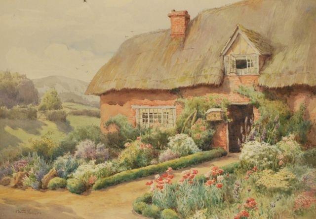 76: Maud Hollyer (Fl.1900-1910) English Cottage with Ga