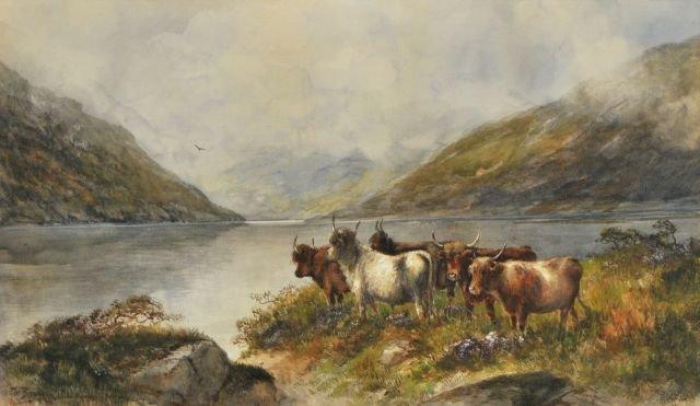 80: Thomas Bradley (19th/20th Century) Highland Cow, Wa