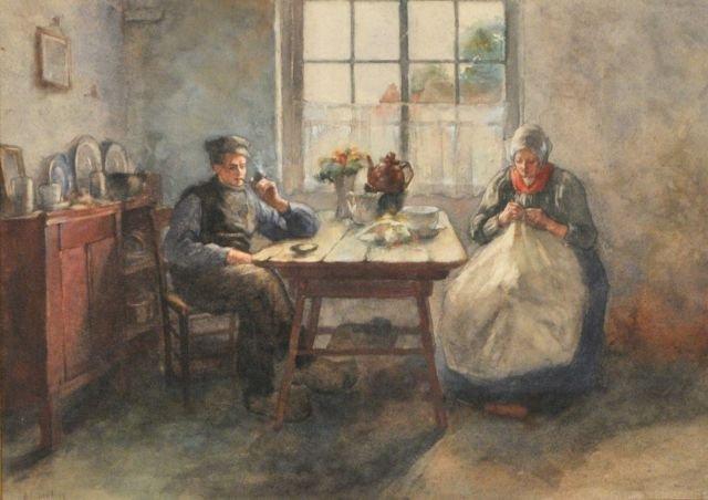 82: Bertha Valkenburg (1862-1929) Untitled, Watercolor