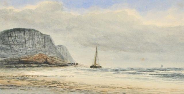 85: William Burgess (1805-1861) Beach Scene, Watercolor