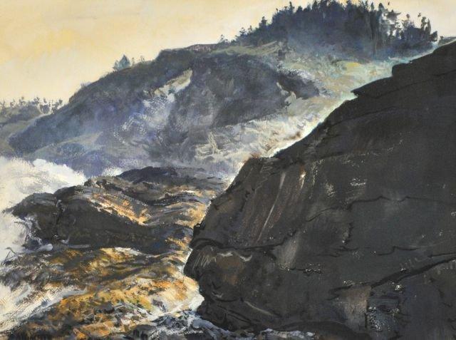 86: Andrew George Winter (1893-1958) Rocky Coastal Scen