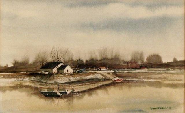 88: Wayne Spradley (b.1937) River Landscape, Watercolor
