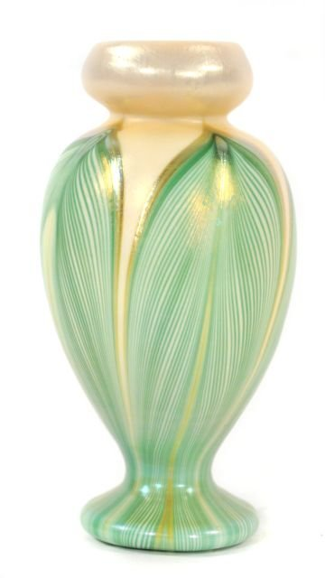 209: A Kew-Blas Pulled Feather Glass Vase, 20th Century