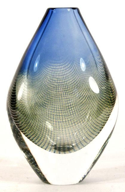 213: A Sven Palmqvist for Orrefores Glass Vase, 20th Ce
