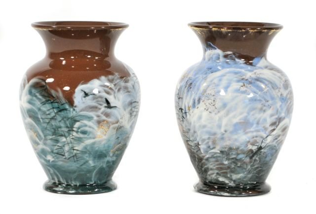 220: Two Early Rookwood Vases by Matthew A. Daly,