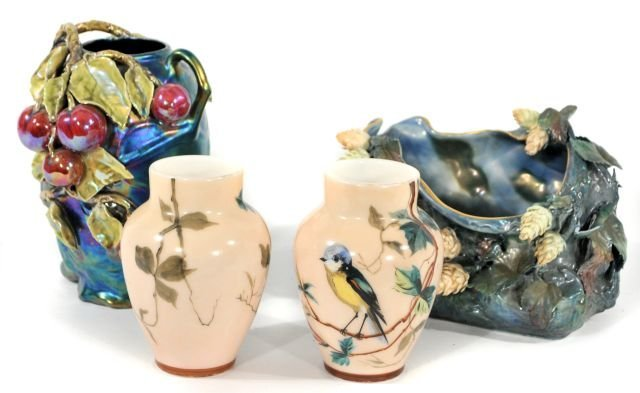 221: Two Amphora Style Porcelain Vases, 20th Century,