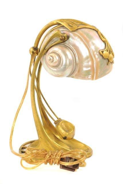 228: Moritz Hacker (1849-1932) Shell Table Lamp, Circa