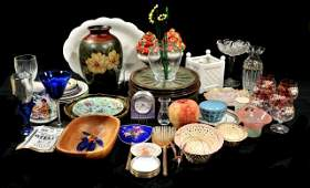 412: A Miscellaneous Collection of Porcelain, Glass, an