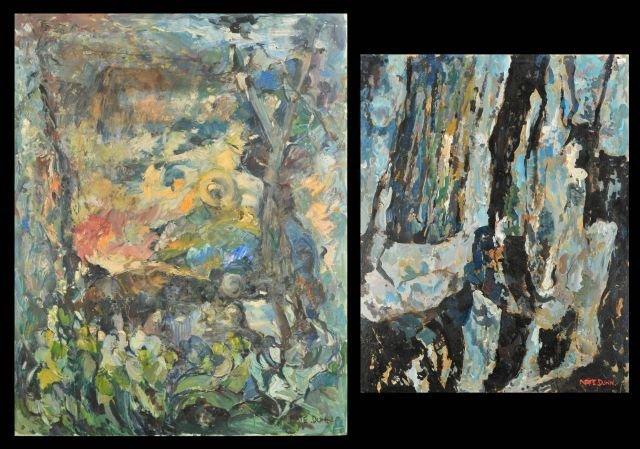 """3: Nathan """"Nate"""" Dunn (1896-1983) Two Abstract Works, O"""