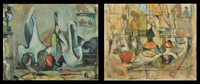 "10: Nathan ""Nate"" Dunn (1896-1983) Two Abstract Still L"