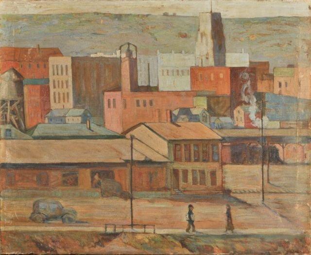 """13: Nathan """"Nate"""" Dunn (1896-1983) Downtown Sharon, 194"""