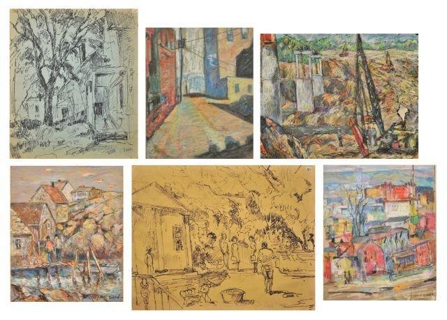 """15: Nathan """"Nate"""" Dunn (1896-1983) Portfolio of Six Wor"""