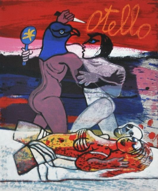 21: Guillaume Corneille (1922-2010) Otello, Silkscreen