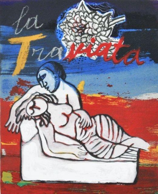 22: Guillaume Corneille (1922-2010) La Traviata, Silksc