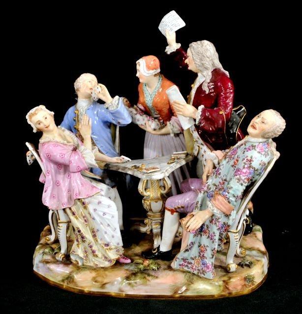 204: A Large Meissen Porcelain Figural Group,