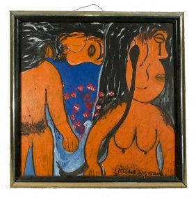 Reverend Albert Wagner (1924 - 2006) Adam And Eve,