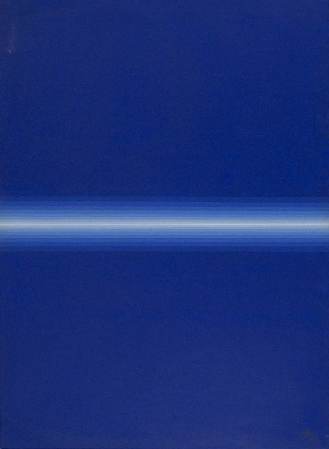 1: Roy Ahlgren (1927-2011) Blue Divide, Acrylic on canv