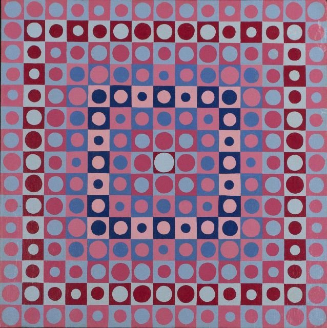3: Roy Ahlgren (1927-2011) Prismatic, Oil on canvas,