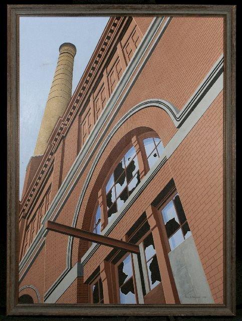 5: Roy Ahlgren (1927-2011) Window on the Past, Acrylic  - 2