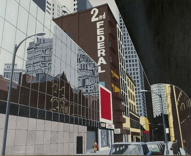 7: Roy Ahlgren (1927-2011) Oliver Avenue, Acrylic on ca