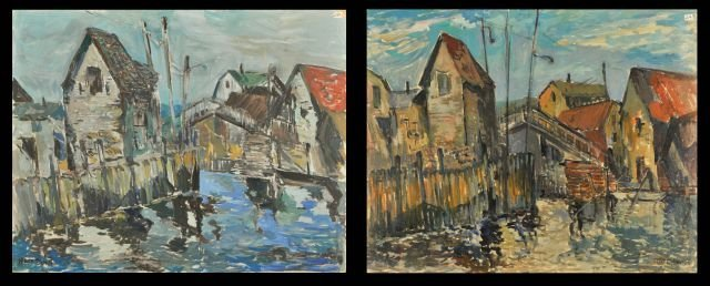 "14: Nathan ""Nate"" Dunn (1896-1983) Two Landscapes, Oil"
