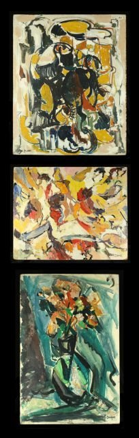 "16: Nathan ""Nate"" Dunn (1896-1983) Three Abstract Works"