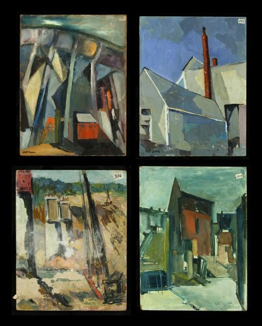 "22: Nathan ""Nate"" Dunn (1896-1983) A Collection of Four"
