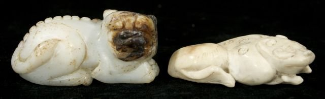 248: Two Chinese Carved Jade and Hard Stone Figures Dep
