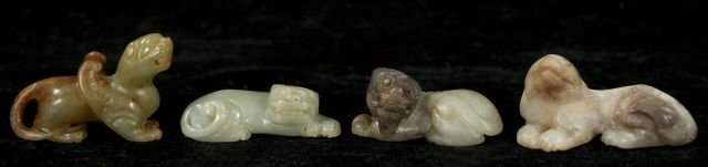 266: A Group of Four Chinese Carved Jade and Hard Stone